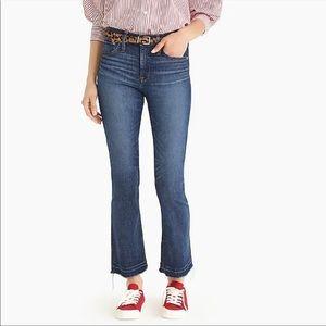 J. CREW Jeans Billie Demi Boot Crop Denim Jeans